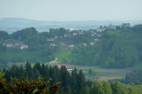 Schloss Fürstenstein fest im Blick.