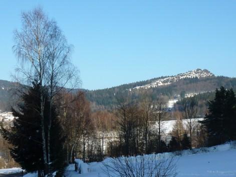 Blick von Riederin zum Silberberg.