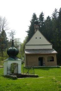 Bründlkapelle bei Goben in der Nähe des Dreiburgensees im Bayerischen Wald.