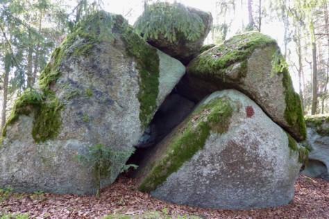 Felsen auf dem Diebstein.