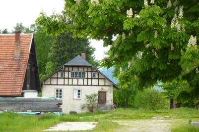Historisches Gebäude beim Schlossgut