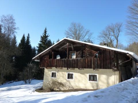 Ein altes Bauernhaus in Oberlohwies.
