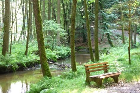 Noch ein Rastplatz am Wasser, um sich vom Wandern zu erholen oder einfach um die Natur und Ruhe zu genießen.