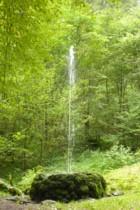 Wasserspiele mitten im Wald
